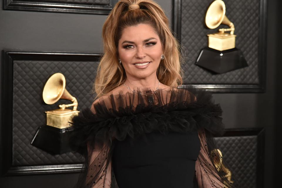 LOS ANGELES, CA - JANUARY 26: Shania Twain attends the 62nd Annual Grammy Awards at Staples Center on January 26, 2020 in Los Angeles, CA. (Photo by David Crotty/Patrick McMullan via Getty Images)
