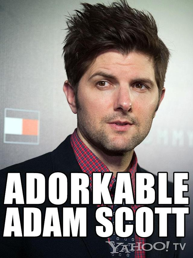 "<strong>Adam Scott<br><br></strong>If you're single and you go to an online dating site, you're probably thinking, ""This isn't a waste of time. Maybe there's a guy like Adam Scott out there for me: handsome, kind, just bashful enough to be cute without seeming immature, bright eyes, a quick wit, thick hair, but doesn't hide behind his thick hair or his snarky jokes."" He exists … on TV. Yep, Ben Wyatt of ""<a href=""http://tv.yahoo.com/shows/parks-and-recreation/"" data-ylk=""slk:Parks and Recreation"" class=""link rapid-noclick-resp"">Parks and Recreation</a>"" is reason enough to move to Pawnee, Indiana. Of course, that's not actually possible. Ben's married and Pawnee is a make-believe city. But we bet you'd get coffee with the cad he played on ""<a href=""http://tv.yahoo.com/shows/tell-me-you-love-me/"" data-ylk=""slk:Tell Me You Love Me"" class=""link rapid-noclick-resp"">Tell Me You Love Me</a>."" Yep, he's <em>that</em> cute."