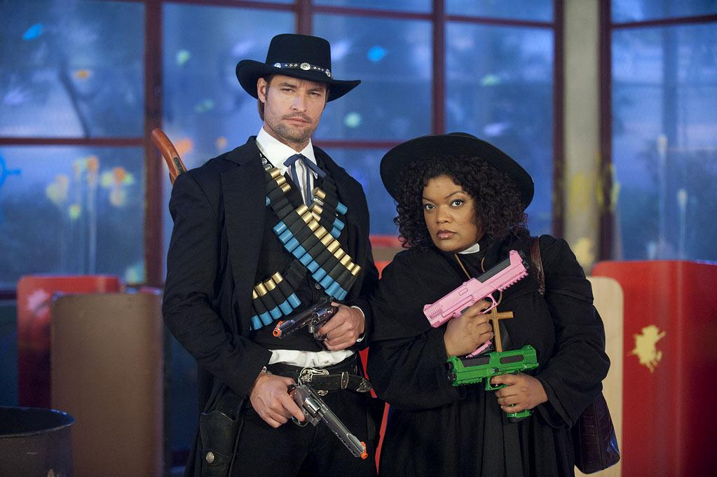 """BEST: """"<a href=""""/community/show/44719"""">Community</a>"""" — We were concerned that the show wouldn't be able to top the paintball episode from last year, but this season's two-part extravaganza completely exceeded our expectations. With Josh Holloway as a paint-gun-toting cowboy to a full-out """"Star Wars"""" parody to utter chaos around every corner -- not to mention Pierce quitting the group -- it was one of the funniest hours of television we've seen this year."""