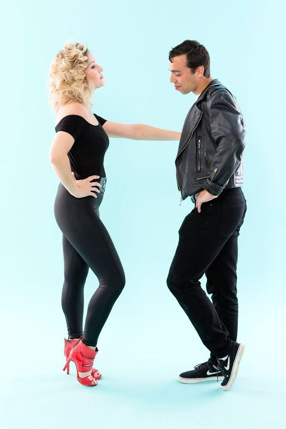 """<p>Though set in the '50s, this movie was a huge hit when released in the '70s. Dress up in a Grease-inspired costume for Halloween.</p><p><strong>Get the tutorial at <a href=""""https://www.brit.co/grease-halloween-costume/"""" rel=""""nofollow noopener"""" target=""""_blank"""" data-ylk=""""slk:Brit & Co"""" class=""""link rapid-noclick-resp"""">Brit & Co</a>.</strong></p><p><strong><a class=""""link rapid-noclick-resp"""" href=""""https://www.amazon.com/Allegra-Womens-Shoulder-Christmas-Black/dp/B01E4DLGGA/?tag=syn-yahoo-20&ascsubtag=%5Bartid%7C10050.g.22500148%5Bsrc%7Cyahoo-us"""" rel=""""nofollow noopener"""" target=""""_blank"""" data-ylk=""""slk:SHOP BLACK TOP"""">SHOP BLACK TOP</a></strong></p>"""