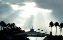 FILE PHOTO: Sunlight breaks through clouds near Disney World ahead of the arrival of Hurricane Irma, in Kissimmee
