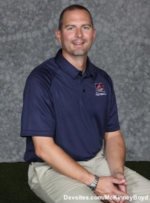 McKinney Boyd football coach and athletic director Don Drake