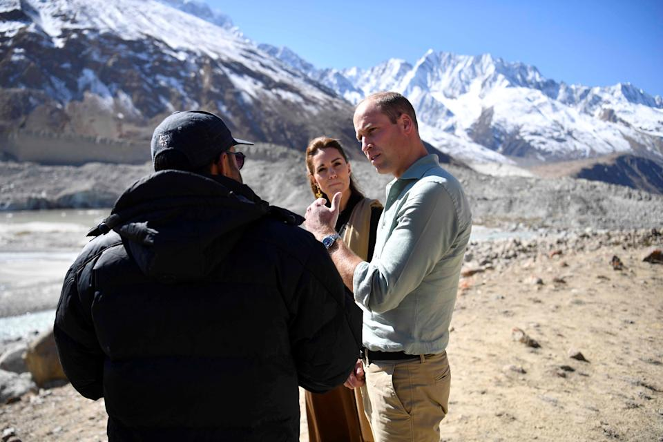 Britain's Prince William and Catherine, Duchess of Cambridge visit the Chiatibo glacier in the Hindu Kush mountain range in the Chitral District of Khyber-Pakhtunkhwa Province in Pakistan, October 16, 2019. Neil Hall/Pool via REUTERS