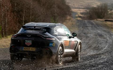 The 2020 Aston Martin DBX on a Welsh gravel road - Credit: Max Earey