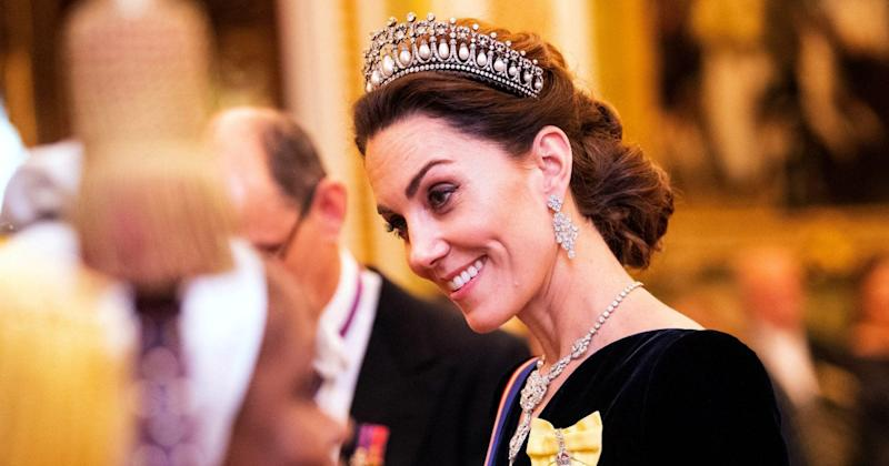Kate Middleton Sparkles in Tiara For Queen Elizabeth's Magnificent Palace Party