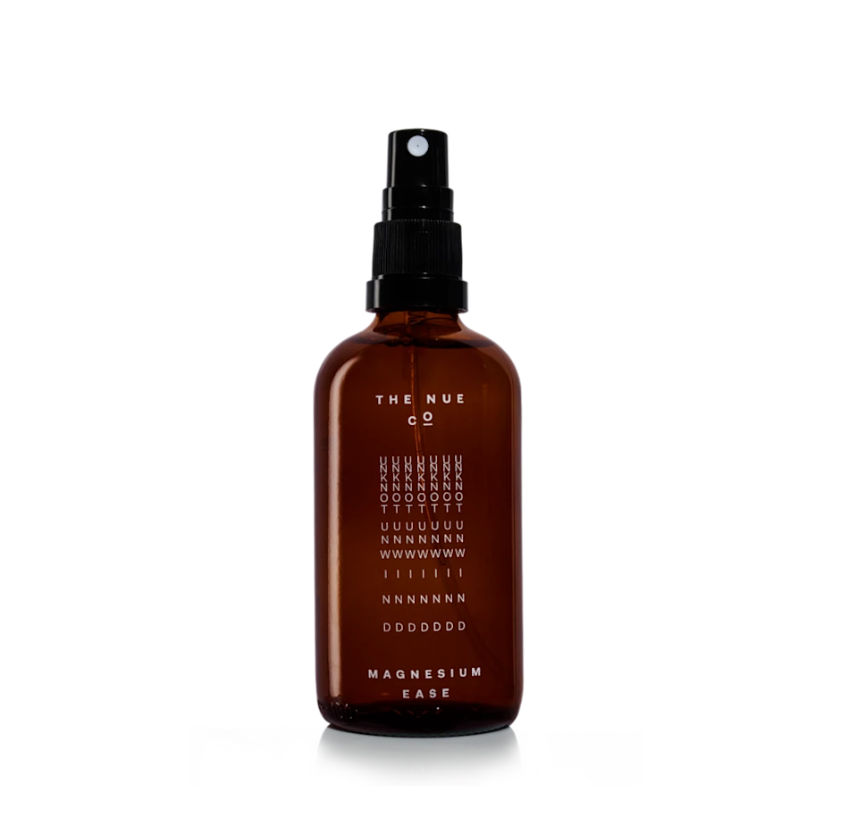 """Ease the aches and pains associated with sitting inside all day with this natural muscle oil.<br><br><strong>The Nue Co.</strong> Magnesium Ease, $, available at <a href=""""https://go.skimresources.com/?id=30283X879131&url=https%3A%2F%2Fwww.thenueco.com%2Fcollections%2Fall%2Fproducts%2Fmagnesium-ease"""" rel=""""nofollow noopener"""" target=""""_blank"""" data-ylk=""""slk:The Nue Co"""" class=""""link rapid-noclick-resp"""">The Nue Co</a>"""