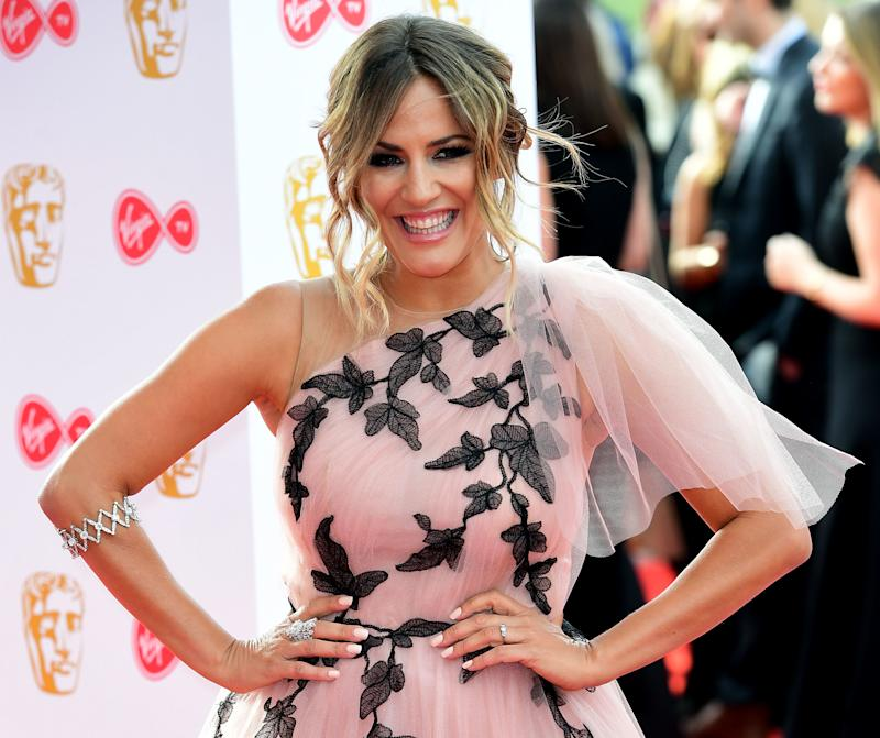 Caroline Flack attending the Virgin TV British Academy Television Awards 2018 held at the Royal Festival Hall, Southbank Centre, London. (Photo by Ian West/PA Images via Getty Images)