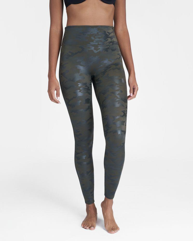 Faux Leather Camo Leggings. Image via Spanx.