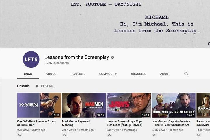 Lessons From the Screenplay YouTube channel screenshot