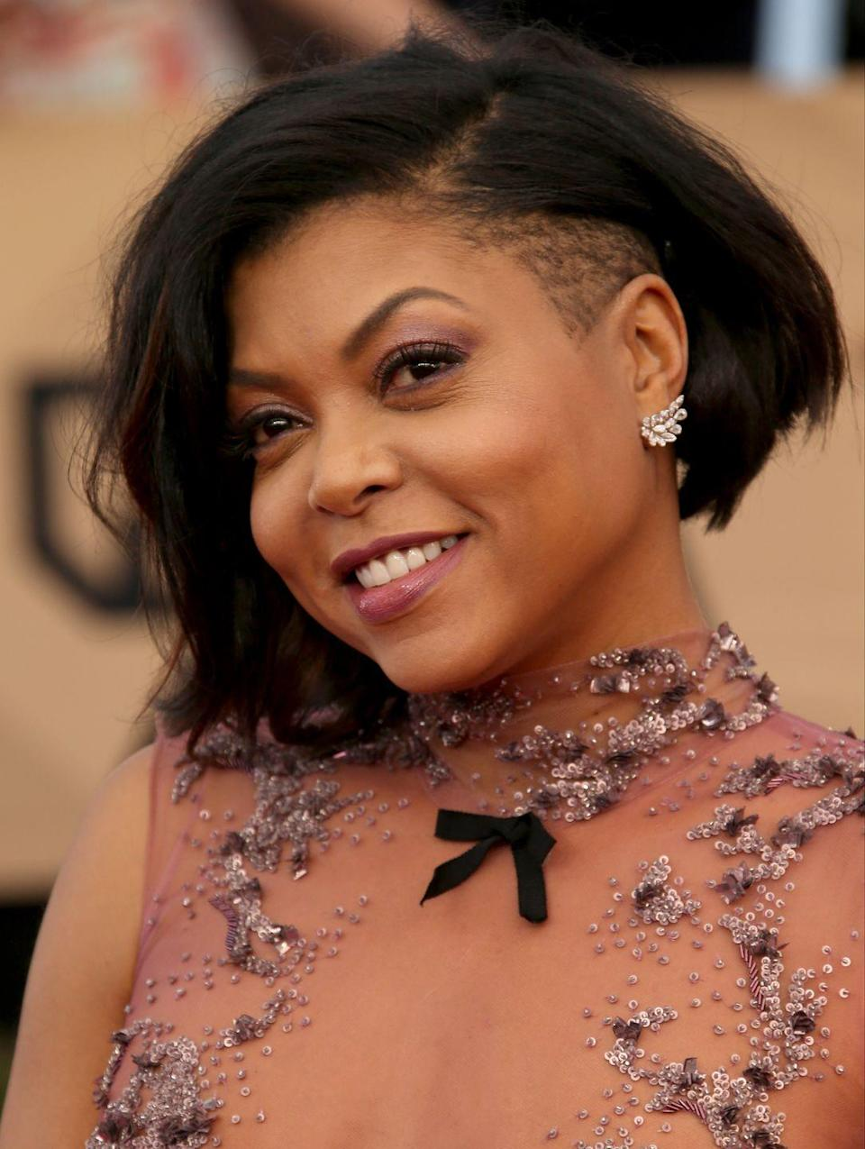 <p>No stranger to the basic bob? Upgrade it instantly with an edgy undercut you can hide or show off, depending on your mood. Taraji P. Henson looks glamorous and cool.</p>