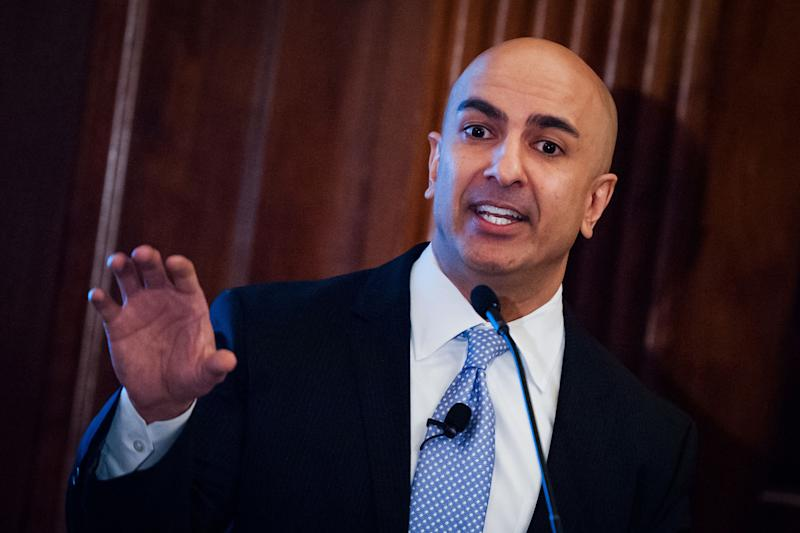 Neel Kashkari, president and chief executive officer of the Federal Reserve Bank of Minneapolis, speaks at the Economic Club of New York in New York, U.S., on Wednesday, Nov. 16, 2016. Kashkari unveiled his four-step 'Minneapolis Plan,' which he said would eliminate the too-big-to-fail problem among financial institutions whose failure could wreak havoc in global financial markets. Photographer: Mark Kauzlarich/Bloomberg via Getty Images