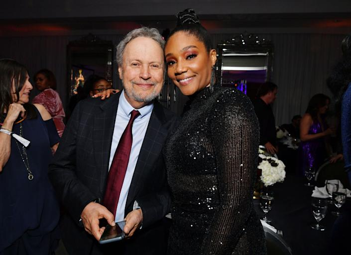 (L-R) Billy Crystal and Tiffany Haddish attend Tiffany Haddish: Black Mitzvah at SLS Hotel on December 03, 2019 in Beverly Hills, California.