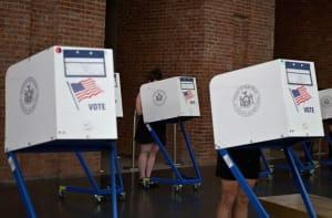 Voting booths.