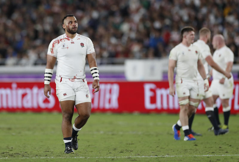 Rugby Union - Rugby World Cup - Final - England v South Africa - International Stadium Yokohama, Yokohama, Japan - November 2, 2019 England's Billy Vunipola with a cut on his face during the match. REUTERS/Peter Cziborra