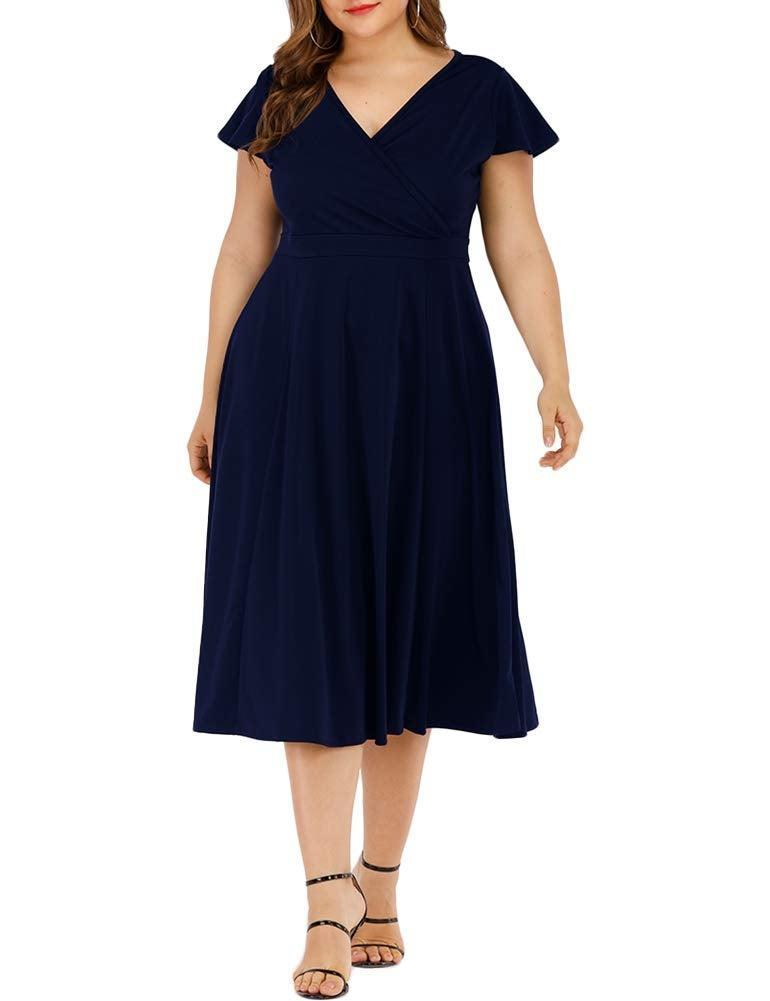 """<br><br><strong>Agmibrelr</strong> Flutter Sleeve Swing Dress, $, available at <a href=""""https://amzn.to/2M19hGn"""" rel=""""nofollow noopener"""" target=""""_blank"""" data-ylk=""""slk:Amazon Fashion"""" class=""""link rapid-noclick-resp"""">Amazon Fashion</a>"""