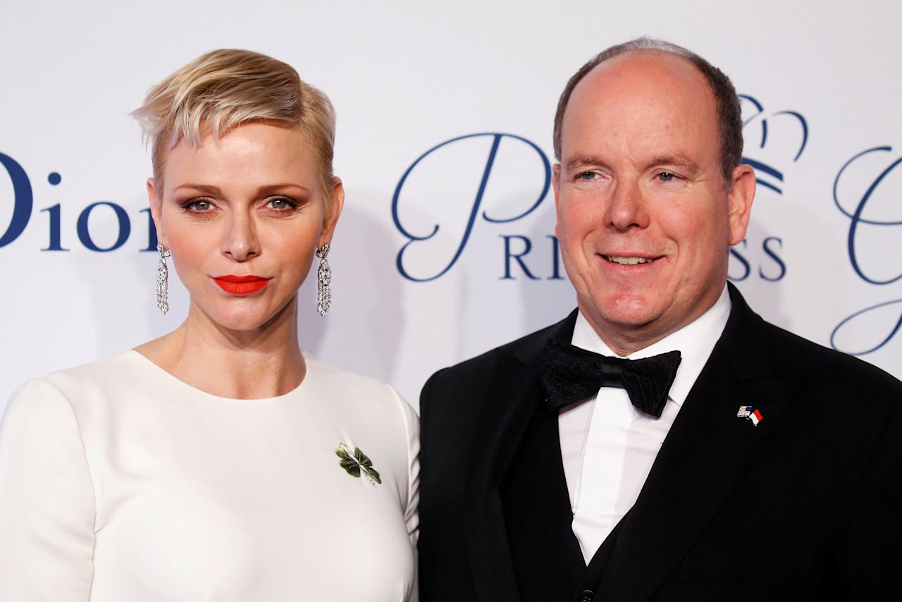 Prince Albert II of Monaco arrives with his wife Princess Charlene of Monaco for the 2016 Princess Grace Awards Gala in the Manhattan borough of New York, New York, U.S., October 24, 2016.   REUTERS/Carlo Allegri     TPX IMAGES OF THE DAY