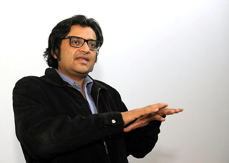 Arnab Goswami, India's most brash and controversial TV news anchor, shown during an interview on April 26, 2017 in Mumbai, is about to launch a new channel which he says will be patriotic and nationalistic