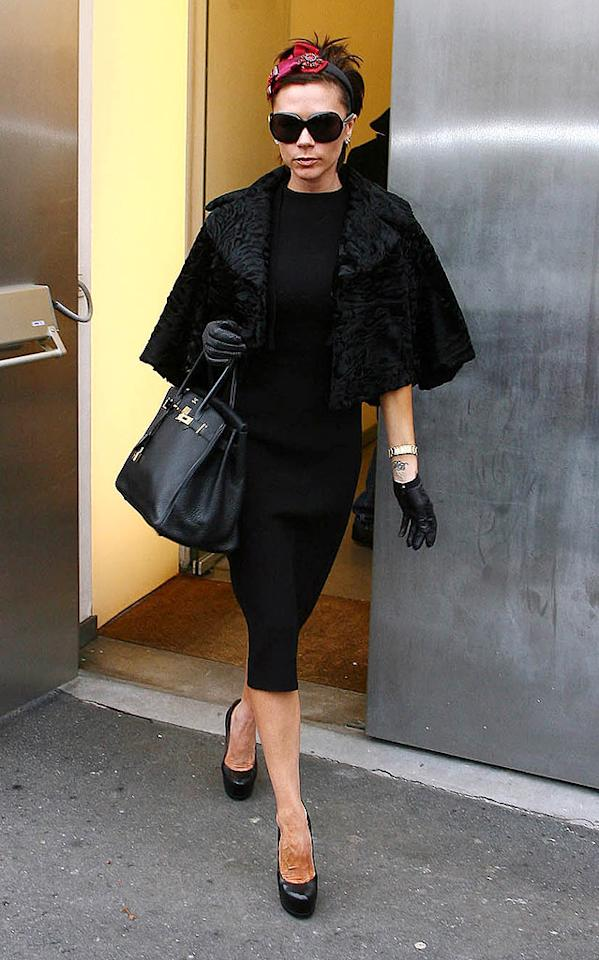"Numerous outlets claimed Victoria Beckham went on a $1.6 million shopping spree in Milan over the holidays. Well, not only didn't Victoria spend it like Beckham, <a href=""http://www.gossipcop.com/victoria-beckham-1-6-million-shopping-spree-goes-bust/"" target=""new"">Gossip Cop</a> has learned she hasn't been to Milan in more than six months. Luca Ghidoni/<a href=""http://www.gettyimages.com/"" target=""new"">GettyImages.com</a> - January 21, 2009"