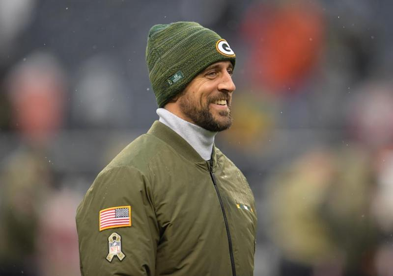 Green Bay Packers quarterback Aaron Rodgers.