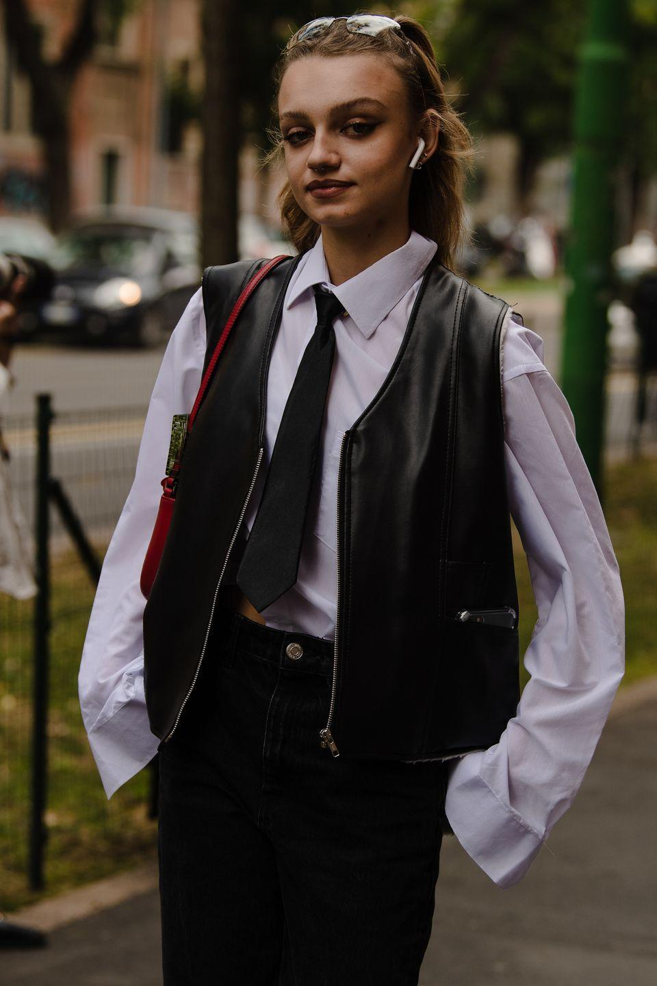 <p>We never knew we always needed a leather vest.</p>