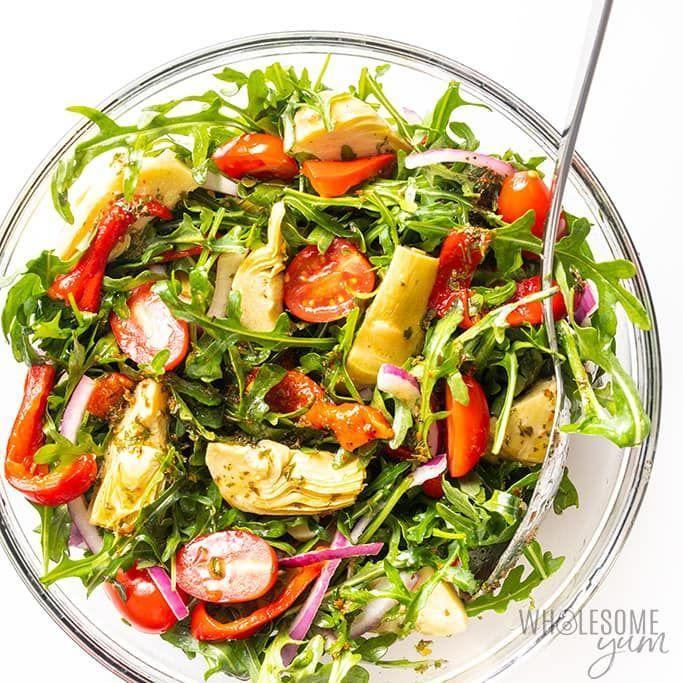 """<p>This tangy, herbaceous salad comes together in less than 10 minutes with just five ingredients, but nobody would ever know it, since there's no sacrificing on taste. </p><p><a href=""""https://www.wholesomeyum.com/italian-marinated-artichoke-salad-recipe/"""" rel=""""nofollow noopener"""" target=""""_blank"""" data-ylk=""""slk:Get the recipe."""" class=""""link rapid-noclick-resp"""">Get the recipe. </a></p>"""