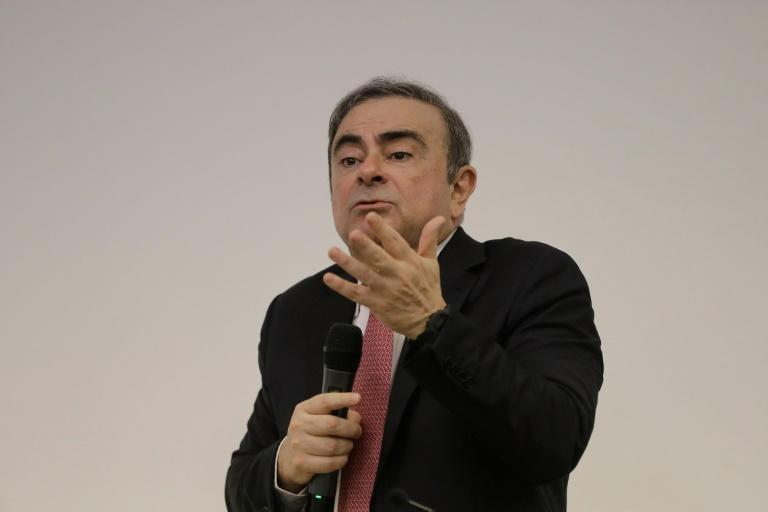 Feistry and gesticulating widely Ghosn captivated an audience of top-tier journalists for nearly three hours to discuss his ordeal in Japan but not a word on how he escaped (AFP Photo/JOSEPH EID)