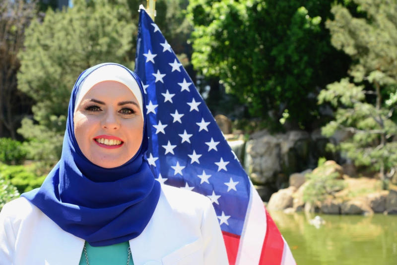 Deedra Abboud, an Arizona Democrat, says she has faced Islamophobic threats as a Senate candidate. (Deedra Abboud)