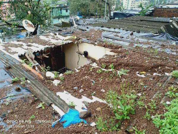 Roof collapsed in Kala (Photo/ANI)