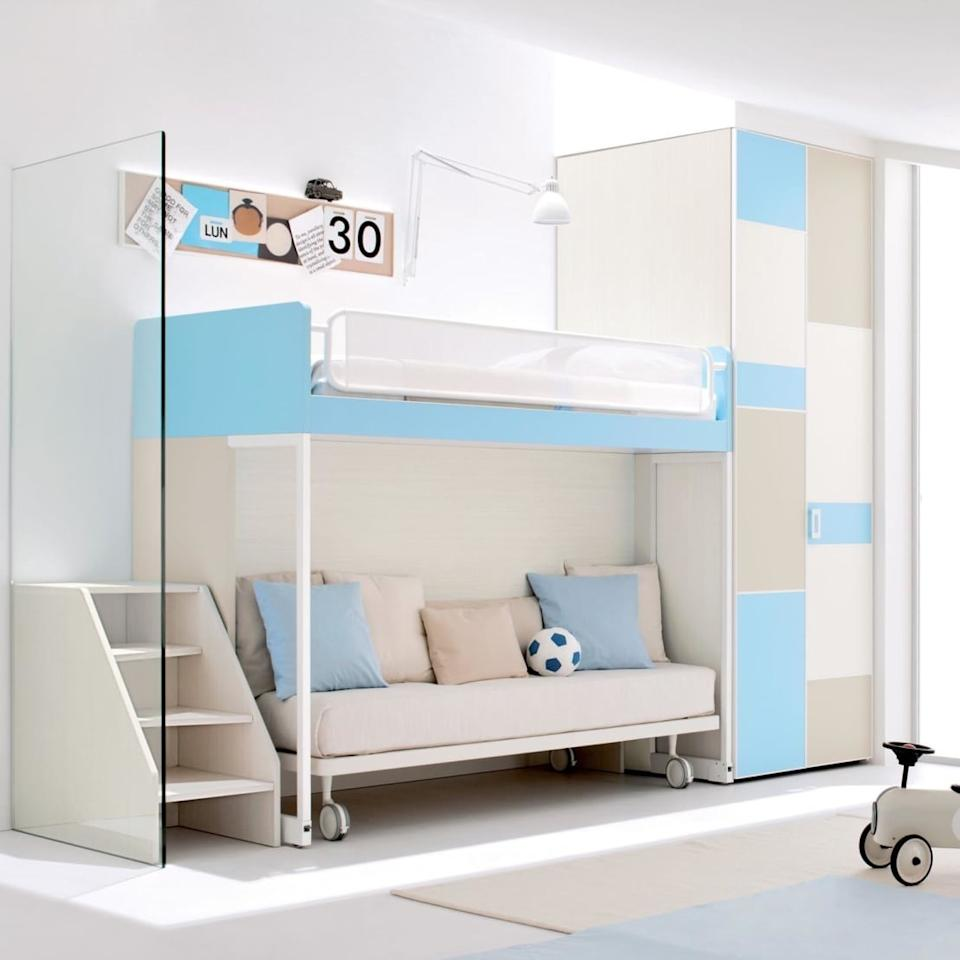 <p>For the more discerning little one, we present this brilliant bunk bed that can be dual sleeping areas when needed, but also a bed and sofa when a more self-contained space is wanted. This is a bed that could easily grow with your child, from youngster through to teenager.</p>  Credits: homify / My Italian Living