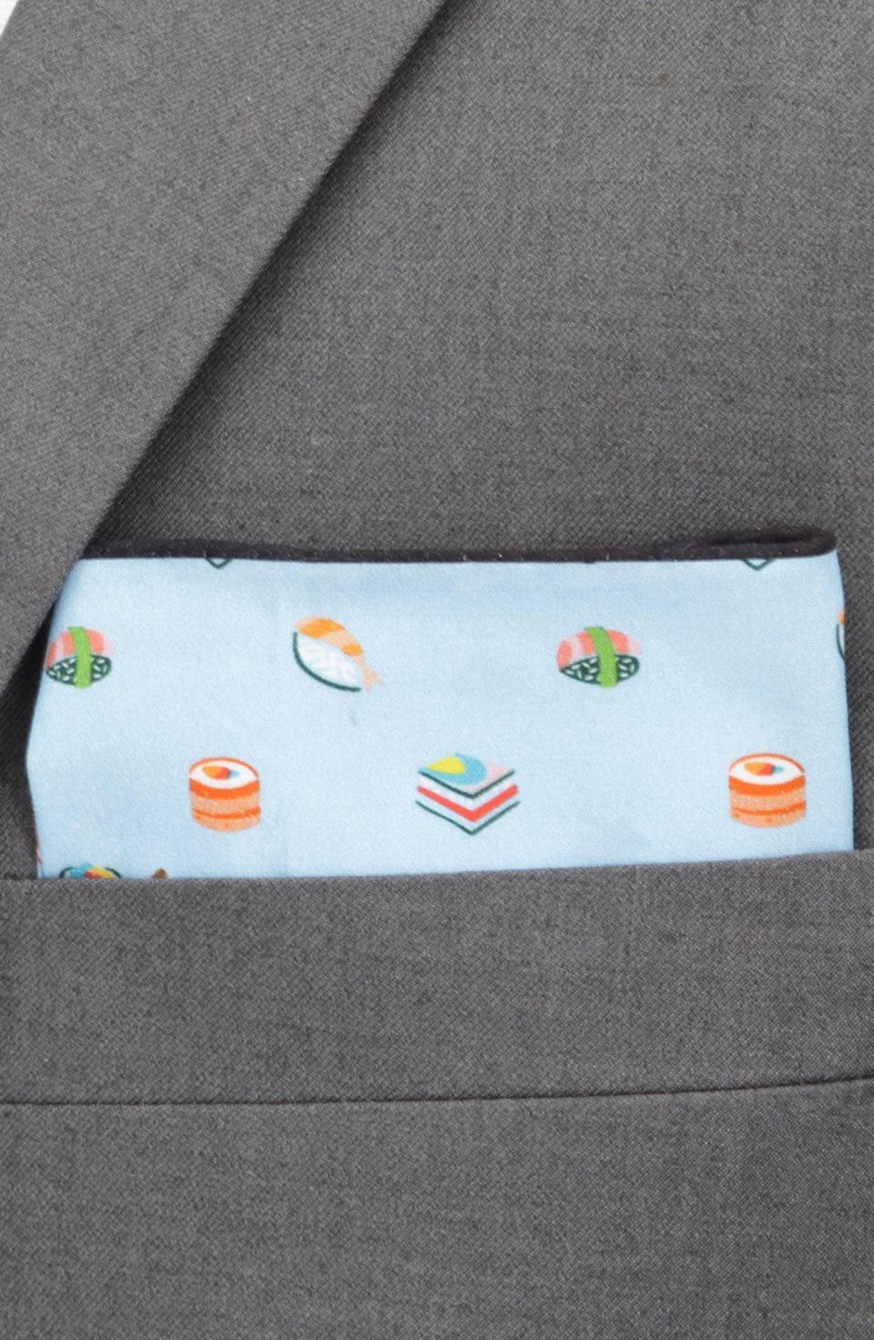 <p>They'll be dressed to impress when they have this <span>Sushi Cotton Pocket Square</span> ($28).</p>