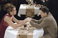 """<p>The actress and model appeared on the episode """"The One After the Superbowl"""" as a superfan stalker of the show <em>Days of our Lives</em>, who has a hard time deciphering Joey Tribbiani from his character, Dr. Drake Ramoray. </p>"""