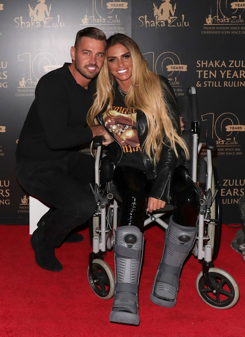 Katie Price posed up a storm from her wheelchair (SplashNews.com)