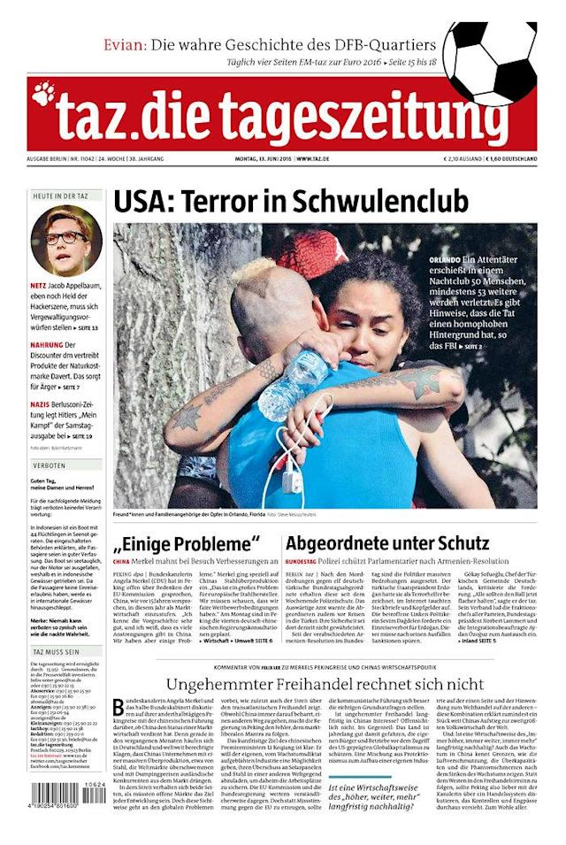 <p>Die Tageszeitung, Published in Berlin, Germany. (Newseum) </p>