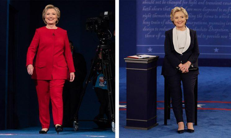 Hillary Clinton debate Suits