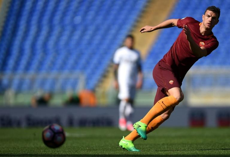 Roma forward Edin Dzeko is  tied at the top of Serie A's goal charts on 25 goals with Torino striker Andrea Belotti