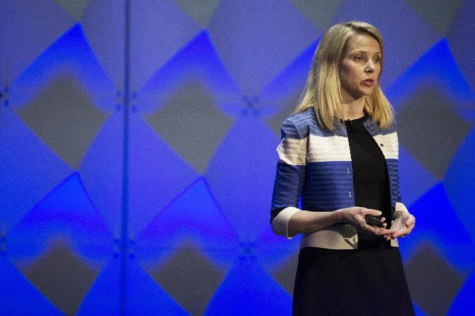 Yahoo CEO Marissa Mayer, seen at a 2016 developer conference, brought a star quality but was unable to save the troubled internet company, whose core assets will be transferred to Verizon in a deal set to close Tuesday (AFP Photo/Stephen Lam)