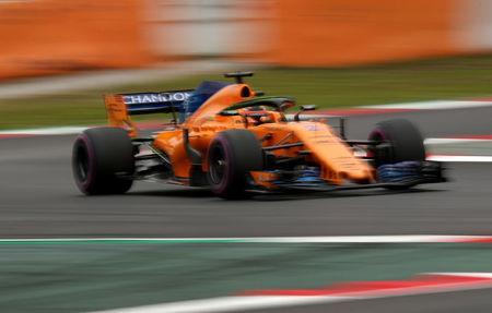F1 Formula One - Formula One Test Session - Circuit de Barcelona-Catalunya, Montmelo, Spain - February 27, 2018 McLaren's Stoffel Vandoorne during testing. REUTERS/Albert Gea