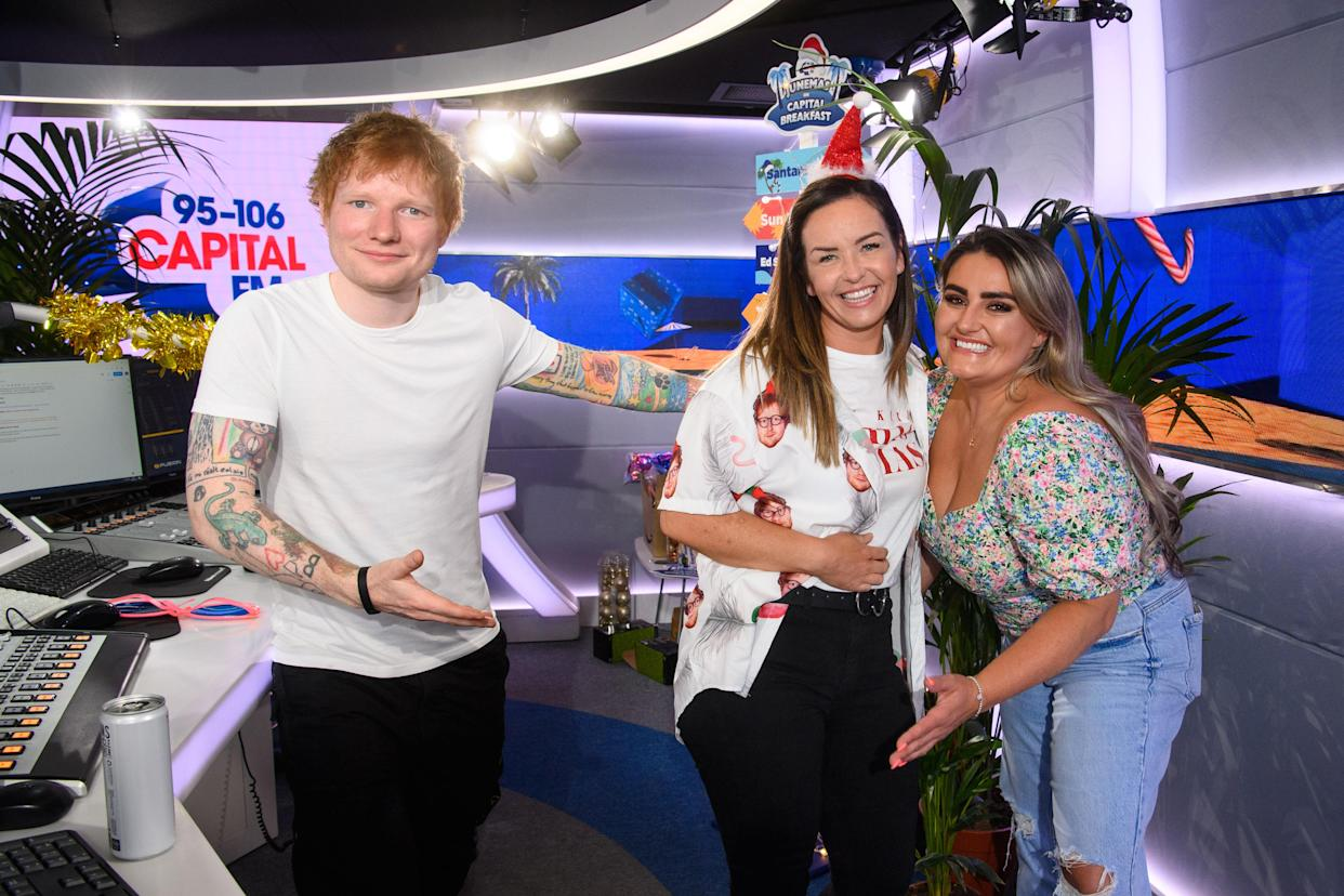 Ed Sheeran with nurse Nicky and her best friend
