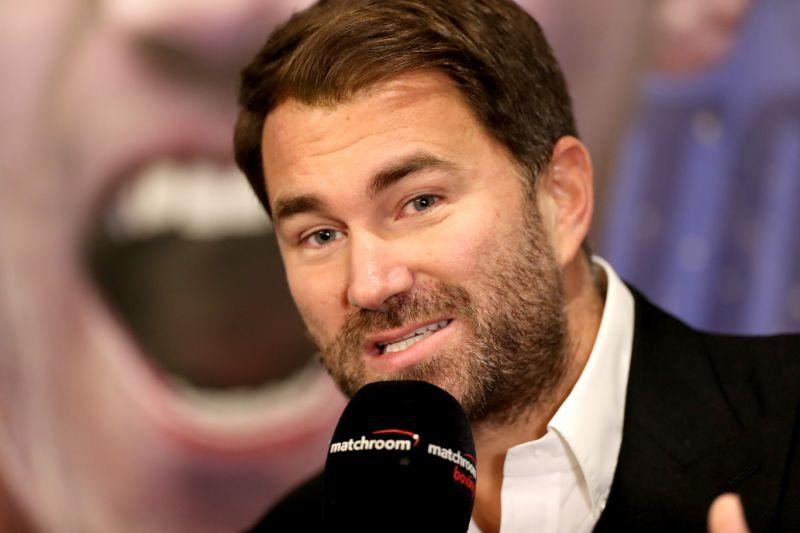 Pictured here, Anthony Joshua's promoter Eddie Hearn.
