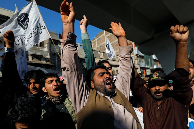 A protest over the death of Iranian Major-General Qassem Soleimani in Peshawar