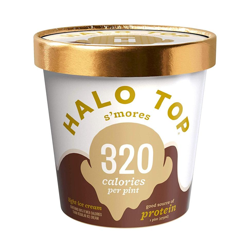 """<p>With only 8 grams of net carbs per serving, this <a href=""""https://www.popsugar.com/buy/Halo%20Top%20S%27mores-473740?p_name=Halo%20Top%20S%27mores&retailer=amazon.com&price=3&evar1=fit%3Auk&evar9=46436533&evar98=https%3A%2F%2Fwww.popsugar.com%2Ffitness%2Fphoto-gallery%2F46436533%2Fimage%2F46436543%2FHalo-Top-Smores&list1=shopping%2Camazon%2Cdessert%2Chealthy%20desserts&prop13=api&pdata=1"""" rel=""""nofollow"""" data-shoppable-link=""""1"""" target=""""_blank"""" class=""""ga-track"""" data-ga-category=""""Related"""" data-ga-label=""""https://www.amazon.com/Halo-Top-Smores-16-Frozen/dp/B01M35BTCY/ref=sr_1_8?fpw=fresh&amp;keywords=halo+top&amp;qid=1564507987&amp;s=gateway&amp;sr=8-8"""" data-ga-action=""""In-Line Links"""">Halo Top S'mores</a> ($3, originally $5) is practically a dream come true.</p>"""