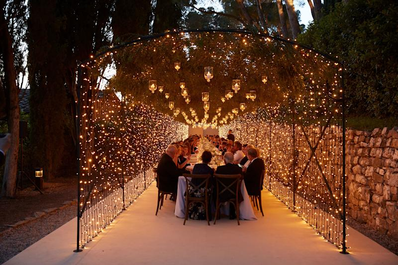 The glittery scene at dinner as the evening went on.