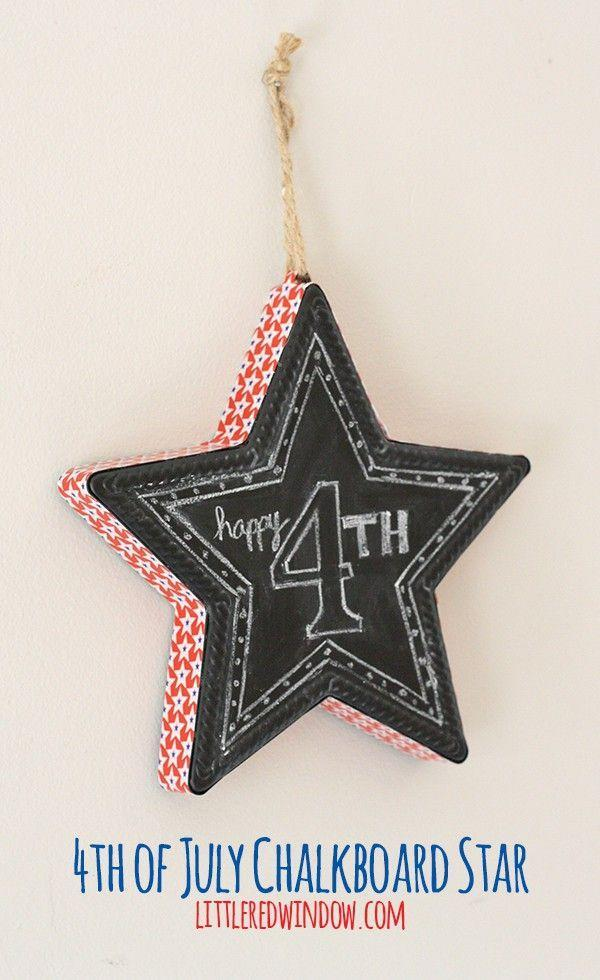 """<p>Transform a cheap metal chalkboard star into a custom Independence Day decoration with some patterned duct tape. </p><p><strong><em>Get the tutorial from <a href=""""https://littleredwindow.com/diy-4th-of-july-chalkboard-star/"""" rel=""""nofollow noopener"""" target=""""_blank"""" data-ylk=""""slk:Little Red Window"""" class=""""link rapid-noclick-resp"""">Little Red Window</a>. </em></strong></p>"""