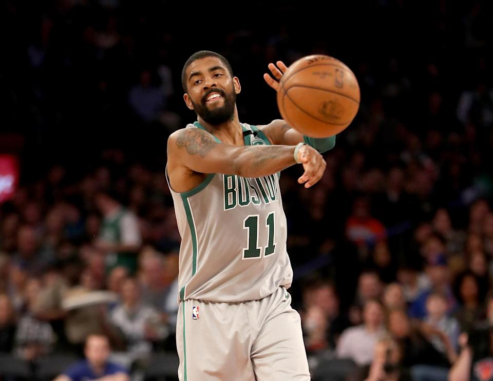 Kyrie Irving said on Thursday that he plans to re-sign with the Boston Celtics when he hits free agency next summer. (Getty Images)