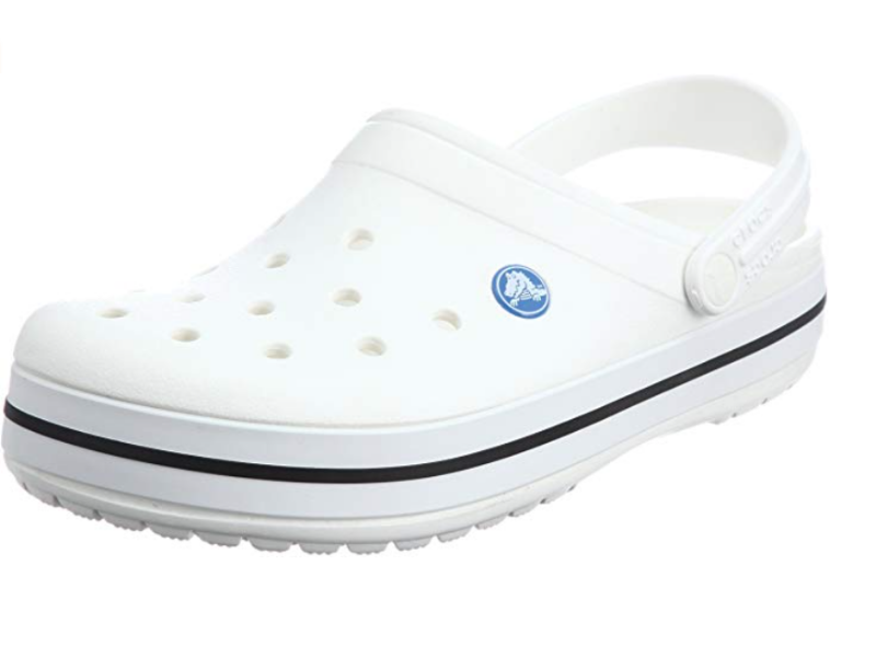 Crocs Men's and Women's Crocband Clog Comfortable Slip On Shoe Casual Water Shoe in White