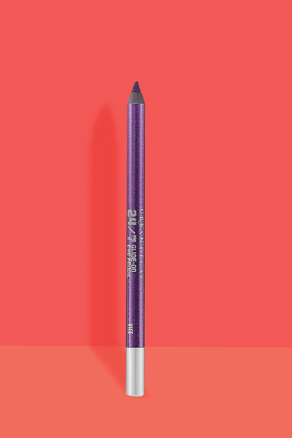 """<p><strong>URBAN DECAY</strong></p><p>macys.com</p><p><strong>$22.00</strong></p><p><a href=""""https://shop.nordstrom.com/s/urban-decay-24-7-glide-on-eye-pencil/3882160"""" rel=""""nofollow noopener"""" target=""""_blank"""" data-ylk=""""slk:Shop Now"""" class=""""link rapid-noclick-resp"""">Shop Now</a></p><p>Into the final product? Lavonne used <strong>Urban Decay 24/7 Glide-On Eye Pencil in Vice and Delinquent.</strong></p>"""