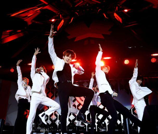 PHOTO: BTS performs onstage during 102.7 KIIS FM's Jingle Ball 2019 at the Forum, Dec. 6, 2019, in Los Angeles. (Rich Fury/Getty Images, FILE)