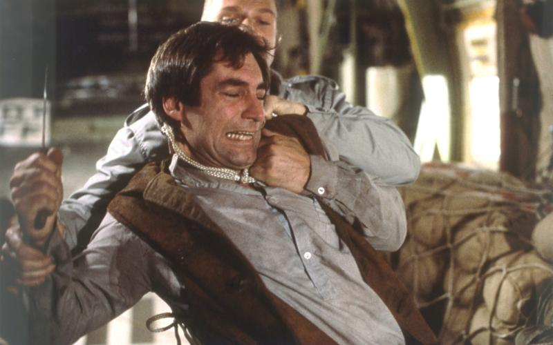 Timothy Dalton and Andreas Wisniewski in The Living Daylights - Corbis