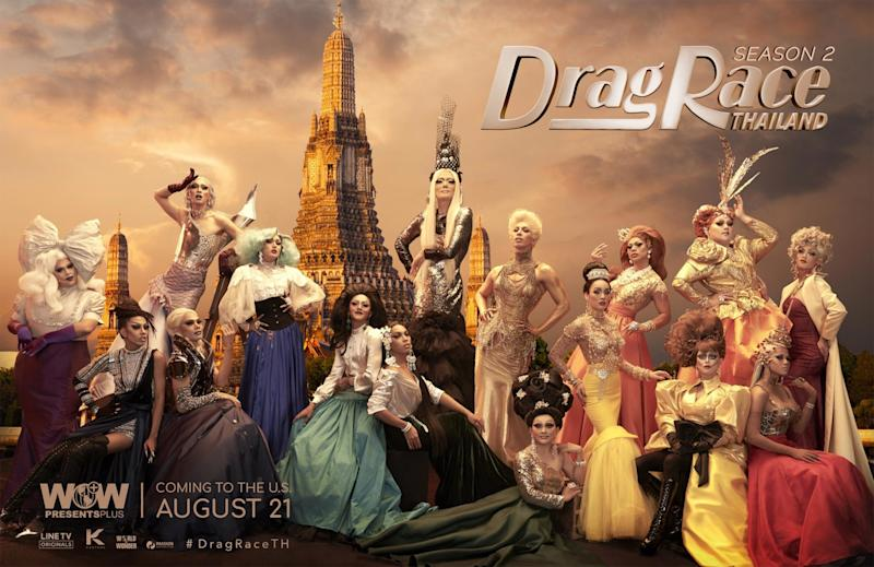 Watch a queen set herself on fire when Drag Race Thailand makes U.S. debut