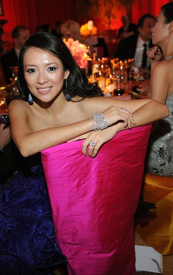 """<a href=""""http://movies.yahoo.com/movie/contributor/1800424122"""">Ziyi Zhang</a> attends the 16th Annual Elton John AIDS Foundation Oscar Party at the Pacific Design Center in West Hollywood - 02/24/2008"""